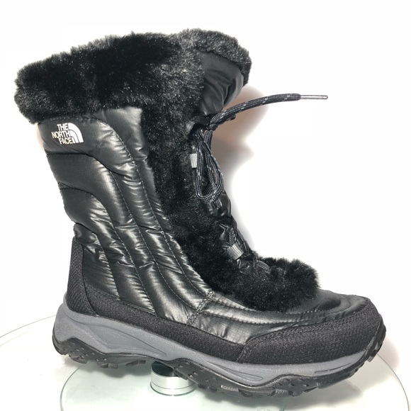 3ce63168e The North Face Black Faux Fur Boots Junior Girl 6
